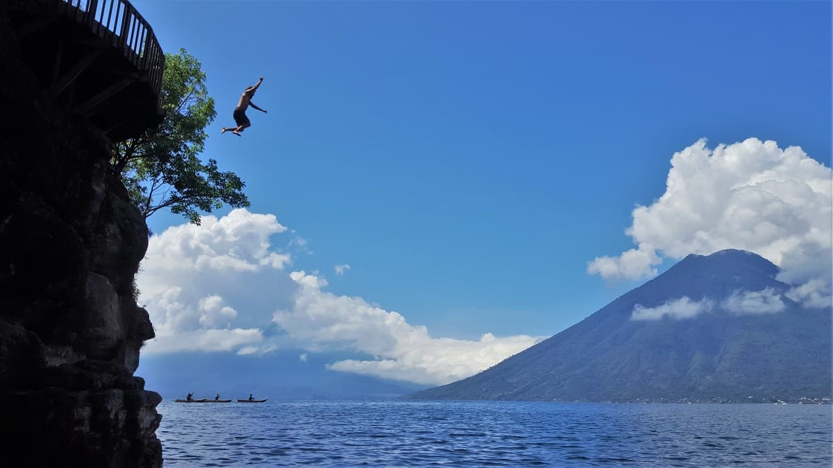 Lake Atitlan Cliff Jump