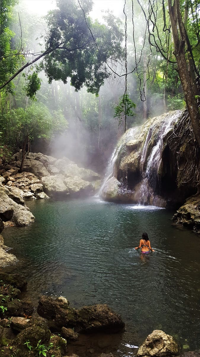 Rio Dulce Hot Spring Waterfall