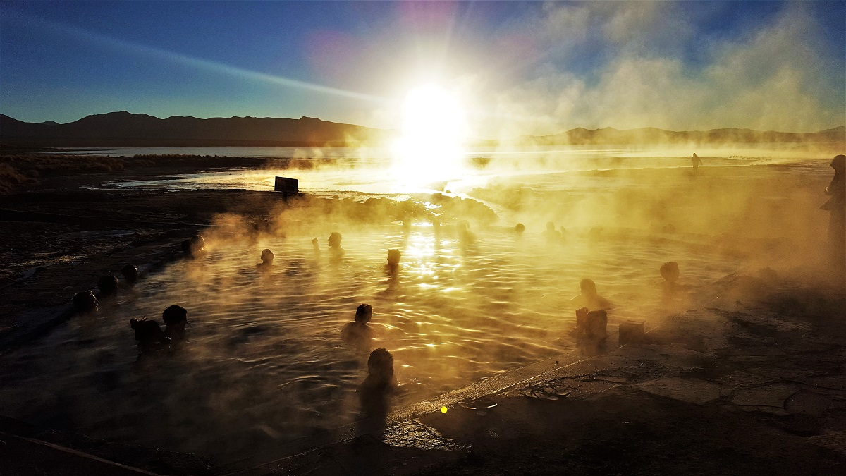 Uyuni Hot Springs Sunrise